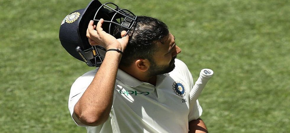 Rohit Sharma played a decent knock but was out attempting a poor shot to Nathan Lyon. (Image credit: Twitter)