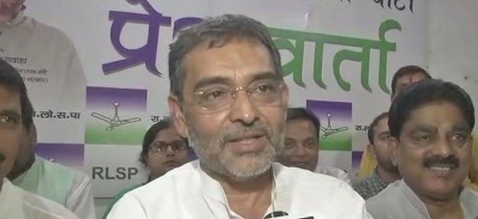 Kushwaha had given the BJP a November 30 deadline to finalise the seat-sharing formula between the NDA partners in Bihar. (ANI Photo)