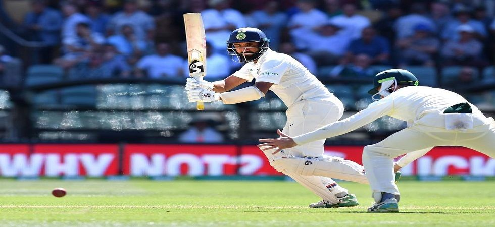 Cheteshwar Pujara boosted India's lead to 166 at the end of day 3. Get India vs Australia 1st Test highlights here. (Image credit: Twitter)