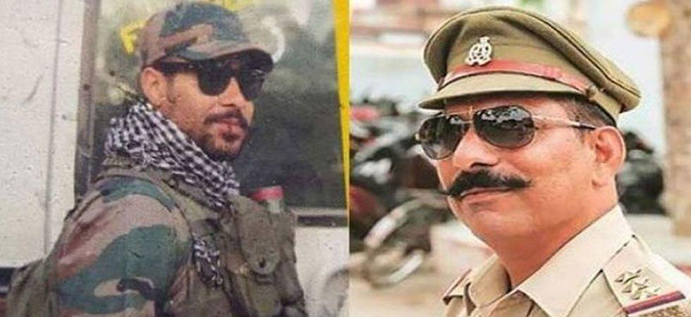 Jitendra Malik alias Jeetu Fauji (left) is suspected to be responsible for shooting Police Inspector Subodh Kumar Singh (right) during the Bulandshahr violence.