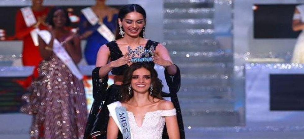 Miss World 2017 Manushi Chhillar crowns her successor Vanessa Ponce De Leon as Miss World 2018 (ANI photo)