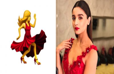 Alia Bhatt recreates the red dancer emoji with a twist, Check here!
