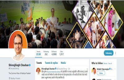 Shivraj Singh Chouhan changes Twitter bio, calls himself 'Common Man of Madhya Pradesh'