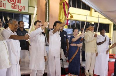 Karunanidhi's statue unveiling becomes Opposition's 'show of strength' event