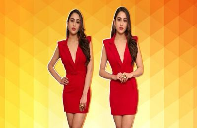 Sara Ali Khan sets Christmas look goals, stuns in red bodycon dress