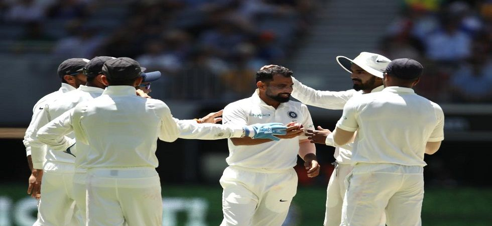 Mohammed Shami picked up his fourth five-wicket haul in his career to help India fight. (Image credit: ICC Twitter)