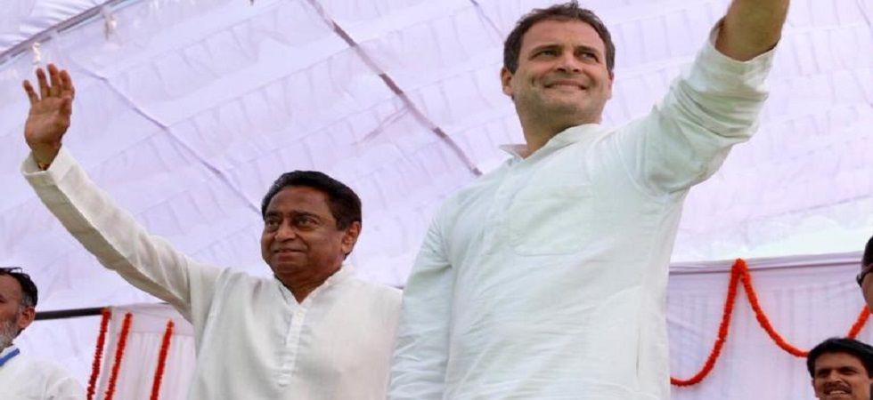 New Madhya Pradesh Chief Minister Kamal Nath with Congress president Rahul Gandhi. (PTI/File)