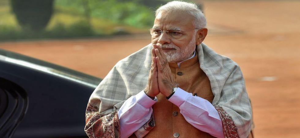 PM Narendra at Rashtrapati Bhawan in New Delhi (Photo Source: PTI)
