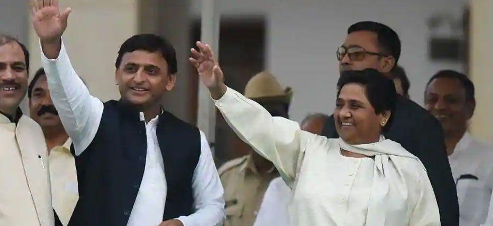 Samajwadi Party (SP) chief Akhilesh Yadav with Bahujan Samaj Party (BSP) chief Mayawati. (File photo)