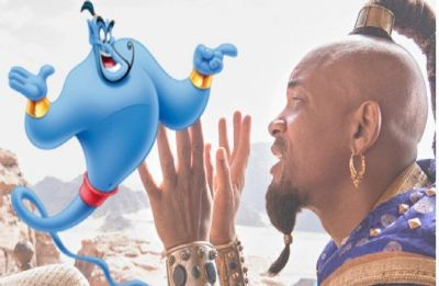 Aladdin: First look at Will Smith's Genie with Mena Massoud and Naomi Scott