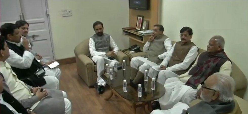 Leaders of Mahagathbandhan in Bihar (Photo Source: ANI)
