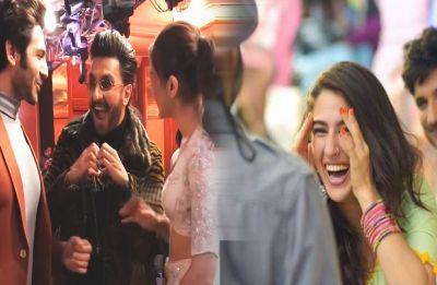 Ranveer Singh acts as a perfect wing-man for Kartik Aryan and Sara Ali Khan, Watch Video