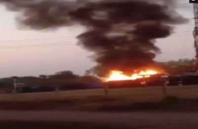 Fire breaks out at Gujarat's ONGC well while drilling