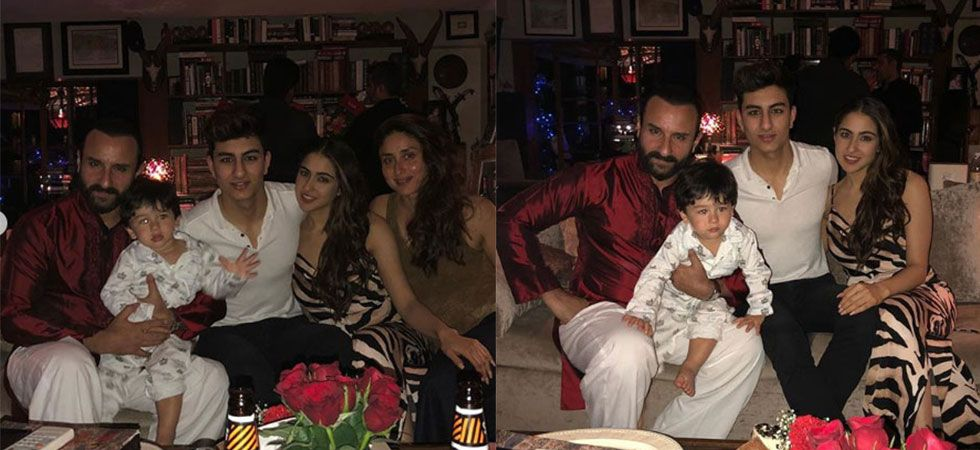 Kareena Kapoor Khan and husband Saif Ali Khan celebrate Christmas with Taimur, Sara and Ibrahim./ Image: Instagram