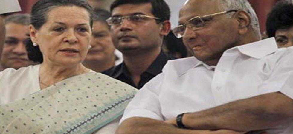 NCP chief Sharad Pawar and Congress leader Sonia Gandhi. (file)