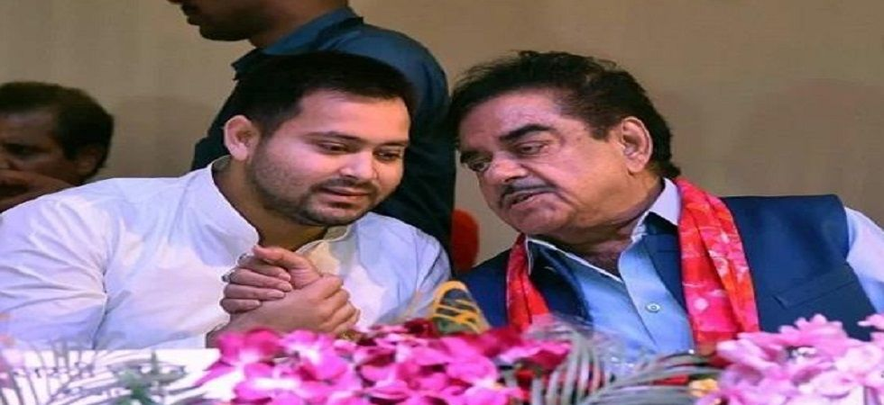 Tejashwi Yadav and Shatrughan Sinha. (File)