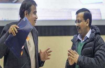 Watch: Nitin Gadkari comes to Arvind Kejriwal's rescue when BJP trolls tried to heckle him