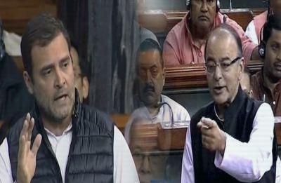 Rafale Row: High voltage drama in Lok Sabha, Rahul Gandhi demands JPC, Arun Jaitley hits back with 'Q' remark