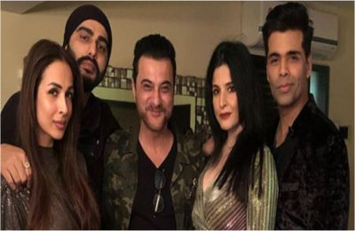 Rumoured couple Arjun Kapoor and Malaika Arora welcome 2019 with Sanjay Kapoor and Karan Johar