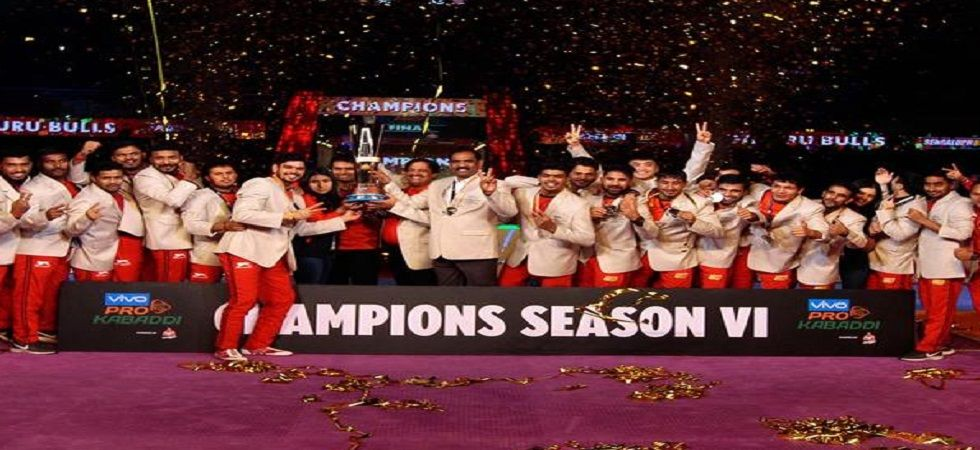 Bengaluru Bulls clinched their maiden Pro Kabaddi League title while Gujarat Fortunegians ended runners-up again. (Image credit: Twitter)