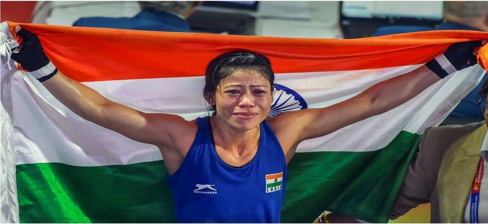 MC Mary Kom created history by winning the AIBA World Boxing Championship for a record sixth time during the tournament in New Delhi. (Image credit: Twitter)