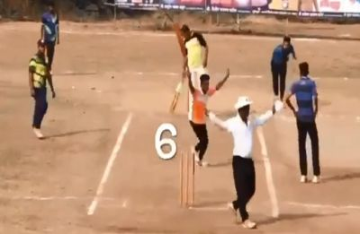 Six runs needed off one ball, batsman does not hit a shot yet his team wins – See how