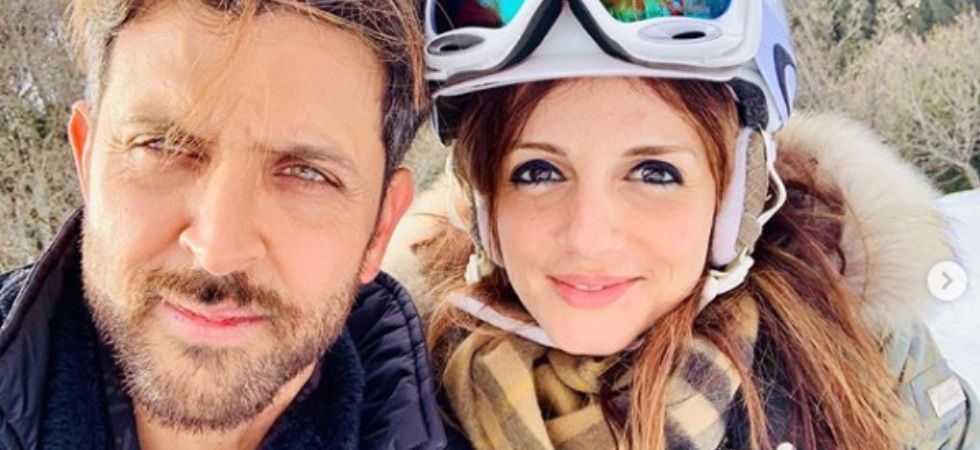 Hrithik Roshan with ex-wife Sussanne Khan./ Image: Instagram