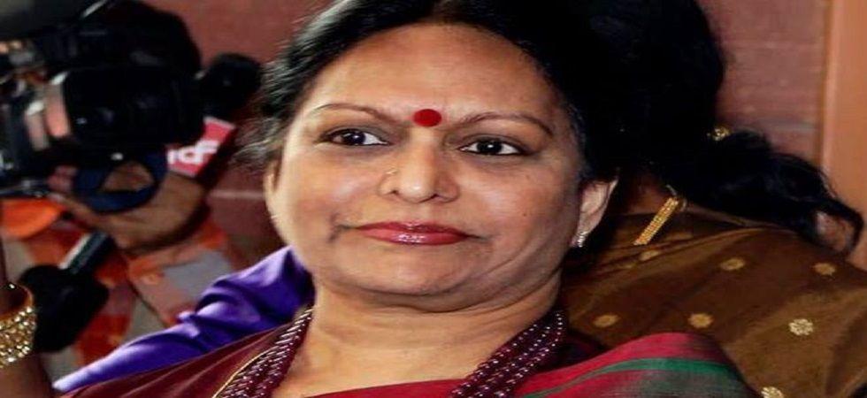Nalini Chidambaram, wife of P Chidambaram. (PTI/file)