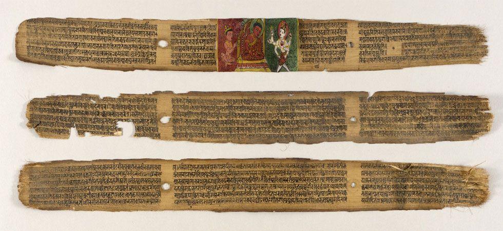 Palm leaves of the Sushruta Samhita or Sahottara-Tantra stored at Los Angeles County Museum of Art. (Photo: Wikipedia)