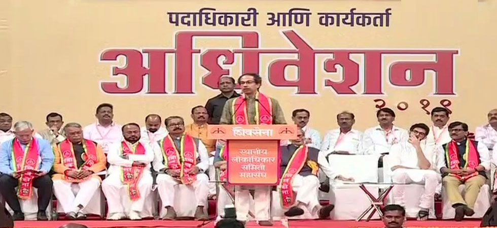"Unlike the BJP, he said, the Sena has raised the Ram temple construction issue before the polls to ""expose"" those who used the issue as a poll plank. (ANI Photo)"