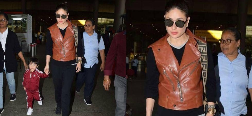 Kareena Kapoor returns from Paris with Taimur Ali Khan./ Image: Twitter
