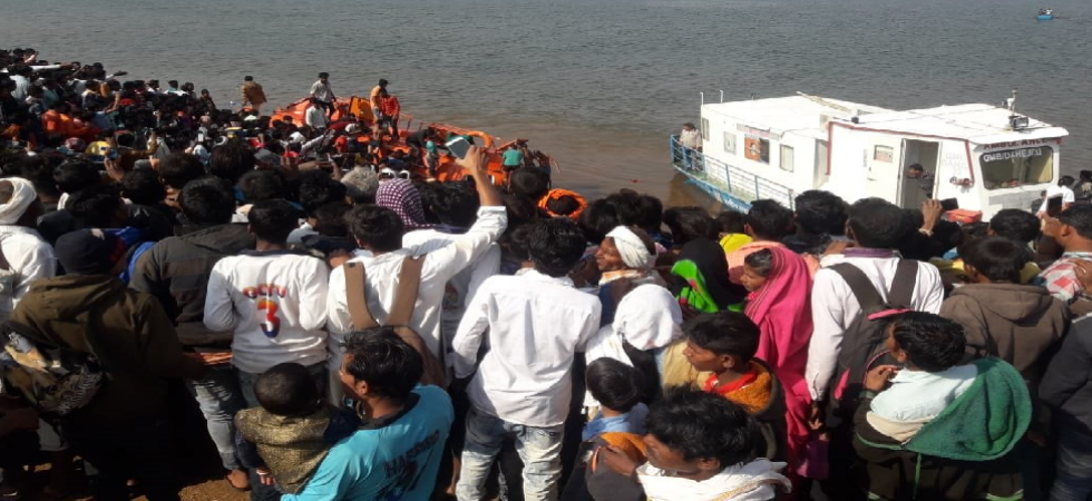 These people had gone for boating as part of Makar Sankranti celebrations.
