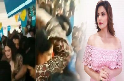 WATCH: Video of Zareen Khan beating a molester at an event goes VIRAL