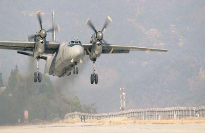 Indian Air Force lands Antonov-32 transport aircraft at Sikkim's Pakyong airport