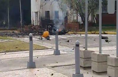 Huge explosion at Bogota police school in Colombia, 9 dead