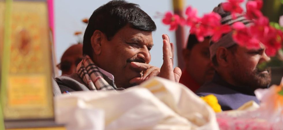 Shivpal Yadav termed the BSP-SP alliance as opportunistic and unholy. (Image tweeted by Shivpal Yadav)