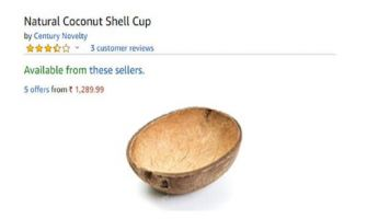 Amazon is selling real, 'Natural Coconut Shells' for Rs 1,365, and Twitter is definitely not amused