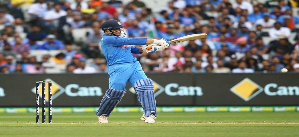 MS Dhoni hit his 70th fifty overall as India stayed in the hunt for a series win in Australia. (Image credit: BCCI Twitter)