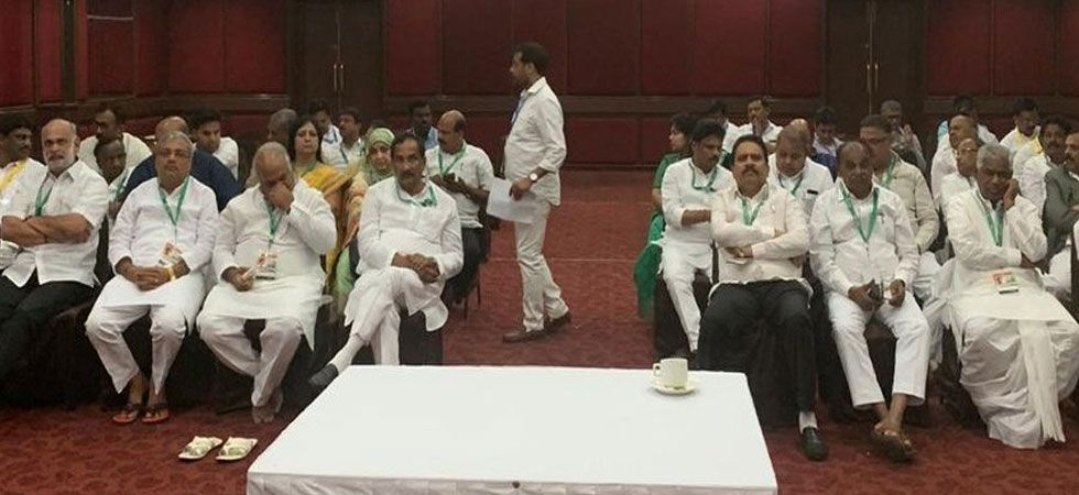 The MLAs are likely to return after the Congress Legislature Party meeting. (Photo: Twitter/@INCKarnataka)