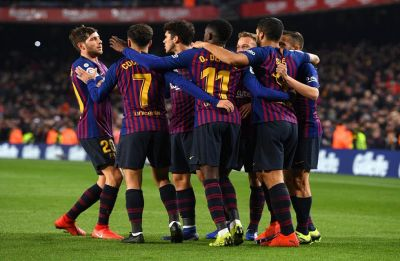 Ousmane Dembele, Luis Suarez restore Barcelona's five-point lead in La Liga