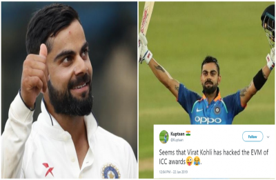 Twitter bows in awe after 'King Kohli' makes record clean sweep at ICC Awards