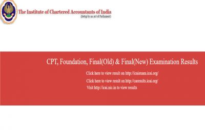 CA Foundation, Final and CPT 2018 results released by ICAI, CHECK NOW