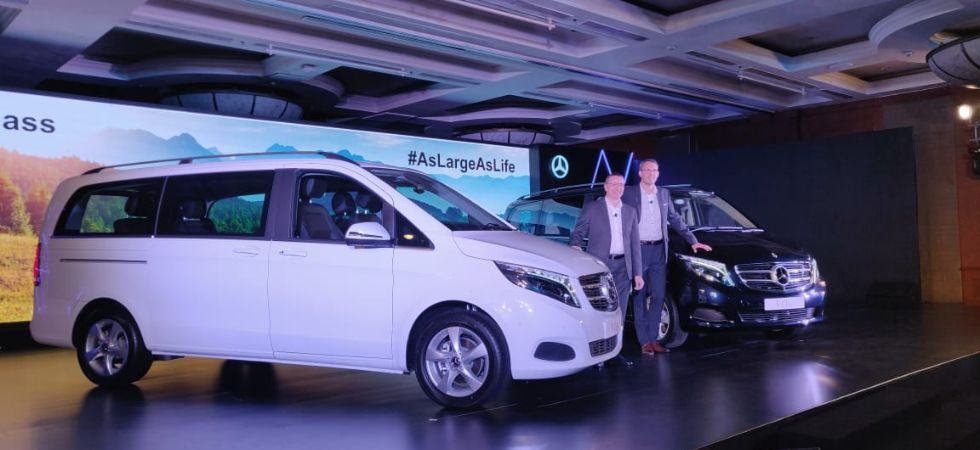 Mercedes-Benz launches the new V-class luxury MPV in India./ Image: Twitter