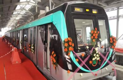 UP Chief Minister Yogi Adityanath inaugurates Noida-Greater Noida Aqua Line Metro