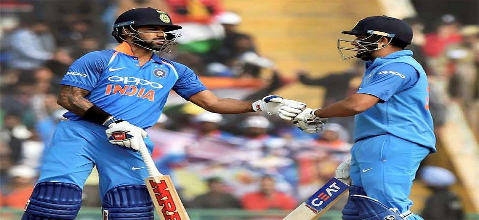 Shikhar Dhawan and Rohit Sharma notched up their 14th century stand in ODIs during the game against New Zealand. (Image credit: Twitter)