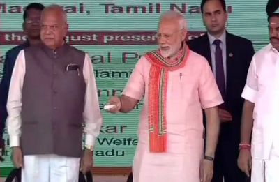 Amid black flag protests, PM Narendra Modi lays foundation stone of AIIMS in Tamil Nadu's Madurai