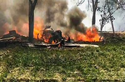 Indian Air Force's Jaguar fighter plane crashes in UP's Kushinagar, pilot manages to eject safely