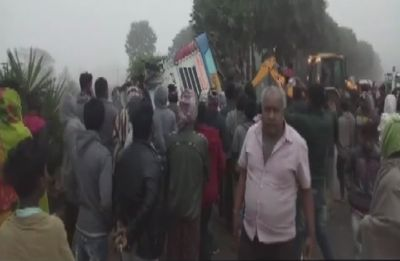 2 people killed, 30 injured after bus overturns near Kesinga in Odisha's Kalahandi district