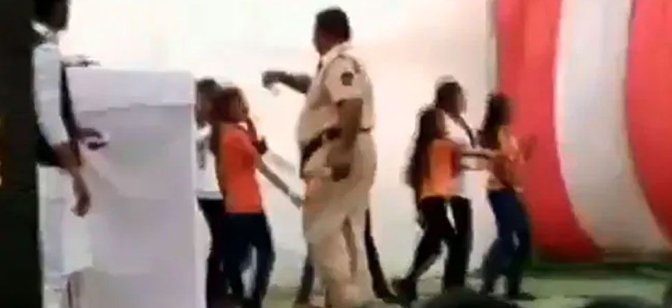 The constable defended himself saying he had gone there for crowd control. (Image Credit: ANI)