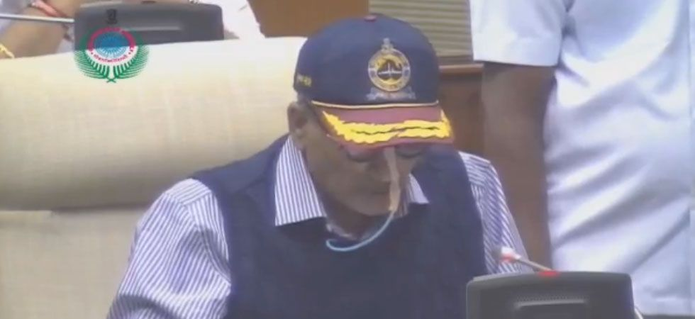 Just like last year, the CM Manohar Parrikar only read the operative part of the Budget. (Screengrab)